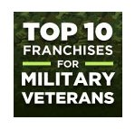 top 10 franchises for veterans logo