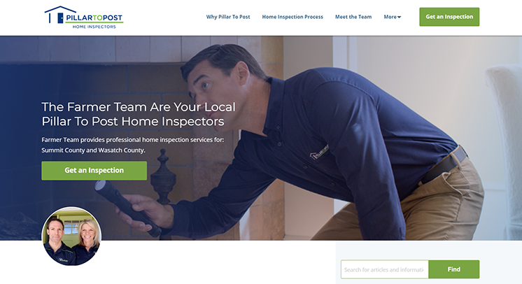 Pillar To Post franchisee micro-site
